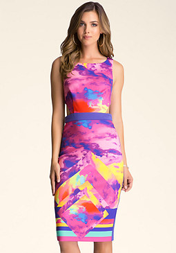 CUTOUT MIDI DRESS at bebe
