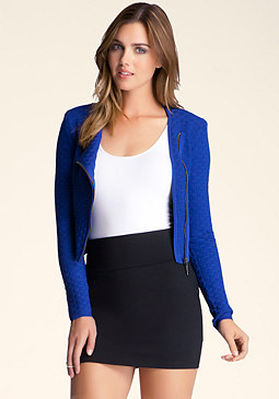 bebe Basket Weave Stitch Jacket