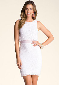bebe Gloria Scallop Lace Dress
