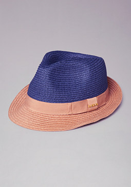 bebe Colorblock Fedora