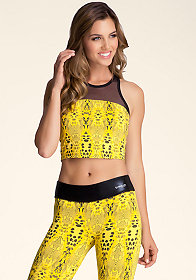 bebe Cropped Racerback Top