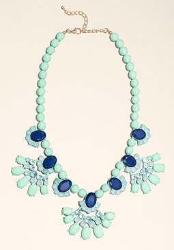 bebe Statement Coated Necklace