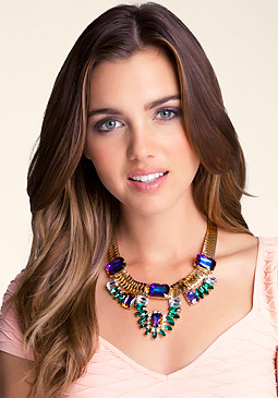 Faux Gem Statement Necklace at 2b