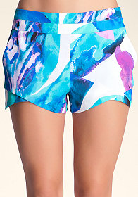 bebe Double Layer Shaped Shorts
