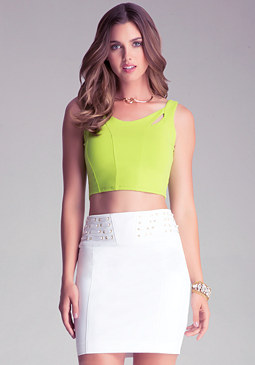 CUTOUT CROP TANK at bebe