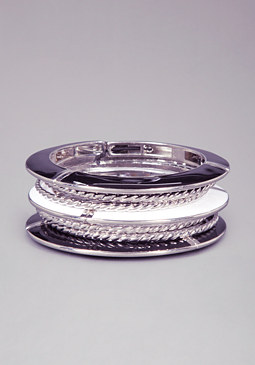 bebe Enamel & Metal Bangle Set
