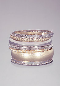 bebe Mixed Metal Bangles