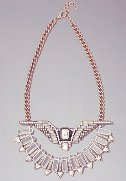 bebe Eagle Statement Necklace