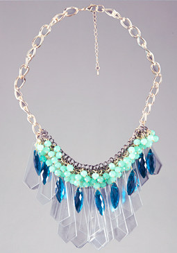 bebe Spikes & Beads Necklace