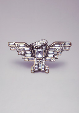 bebe Eagle Crystal Cocktail Ring