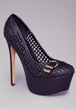 Dori Crochet Buckle Pumps at bebe