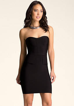 bebe Sweetheart Peplum Dress