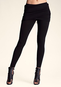 bebe Mesh Skirted Legging