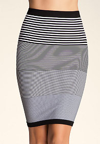 bebe Midi Stripe Skirt