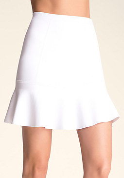 Flared Hem Skirt at bebe