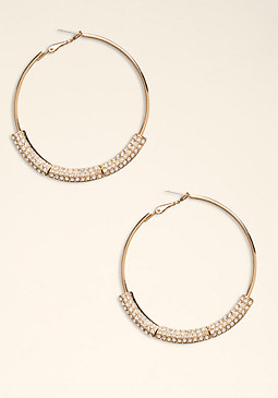 bebe Cry Bar Hoop Earring