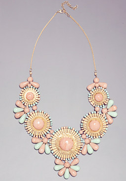 bebe Tribal Gems Bib Necklace
