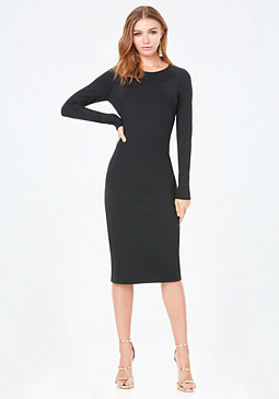 bebe Bodycon Midi Dress �