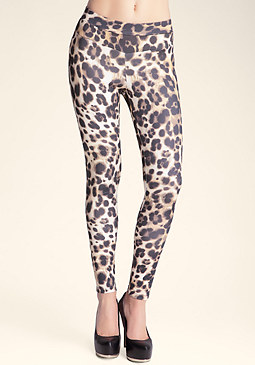 bebe Printed Scuba Leggings
