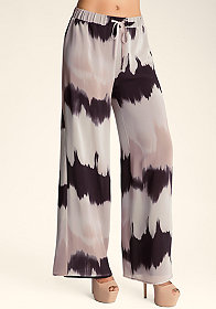 bebe Tie Dyed Wide Leg Pants