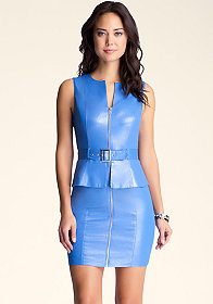 bebe Stitch Peplum Dress