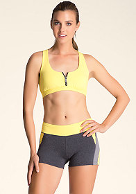 1/2 Zip Racerback Bra at bebe