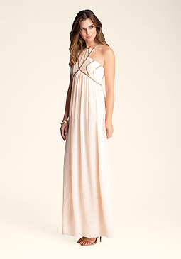 bebe Chain Detail Gown