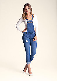Denim Zip Overalls at bebe