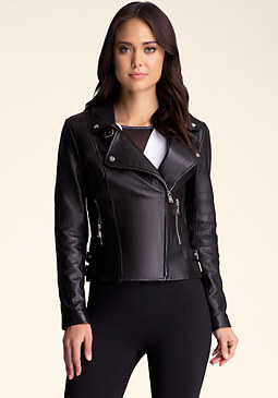 bebe Asymmetrical Zip Jacket��