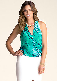 bebe Twist Front Halter Top