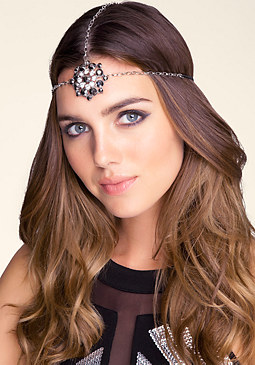 bebe Circle Jeweled Headpiece