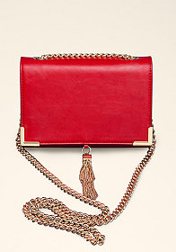 bebe Chain Fringe Crossbody