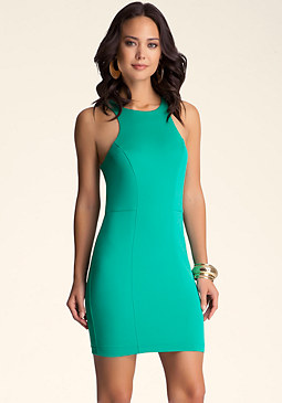 Racerback Scuba Dress at bebe