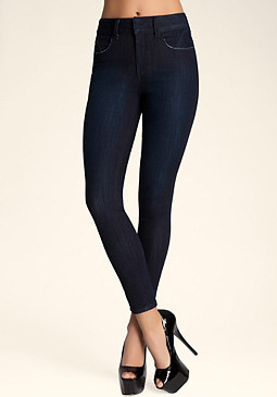 High Rise Skinny Jeans at bebe