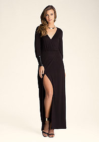 bebe Leatherette Maxi Dress