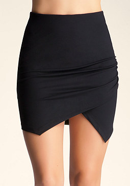 bebe Shirred Symmetrical Skirt