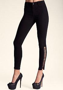Lattice Skinny Jeans at bebe