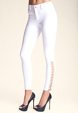 Lattice Skinny Jeans at bebe