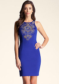 bebe Embellished Tank Dress