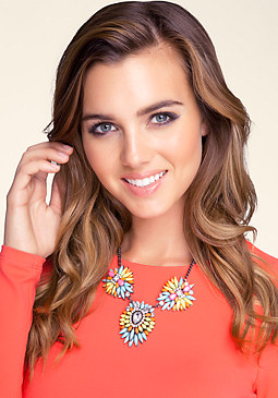 bebe Colorful Statement Necklace
