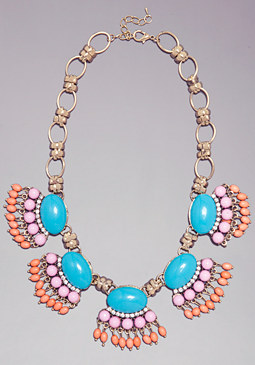 bebe Multi-Color Beaded Necklace