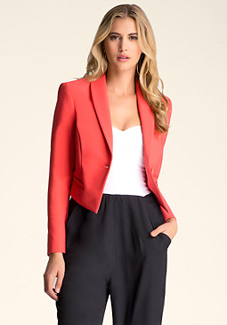 bebe Single Button Jacket