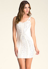 Embellished Strappy Dress at bebe