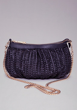 bebe Denise Textured Crossbody