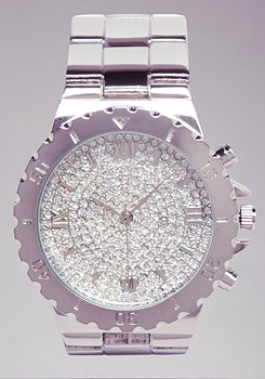 bebe Rhinestone Watch��������