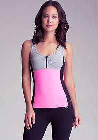 bebe Striped Cross Back Tank