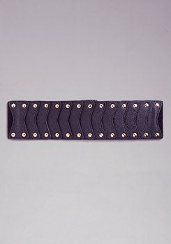 bebe Layered Stud Belt