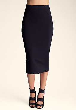 bebe High Back Slit Skirt