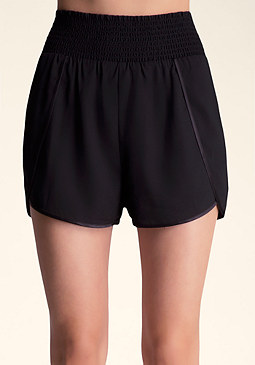 Smocked Waist Shorts at bebe