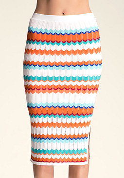 Zig Zag Midi Skirt at bebe